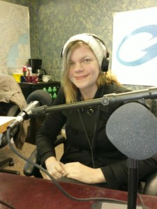Amanda on the radio show Girard at Large
