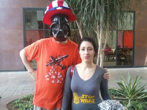 Angela Keaton and Uncle Vader