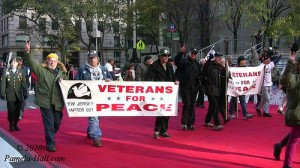 Veterans For Peace rally against war.