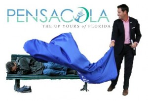 Thanks to Mike Kimberl of Sean's Outpost for this artistic and accurate depiction of Pensacola mayor Ashton Hayward.