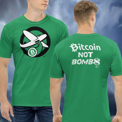 Intergalactic Green Bitcoin Bomber T-Shirt